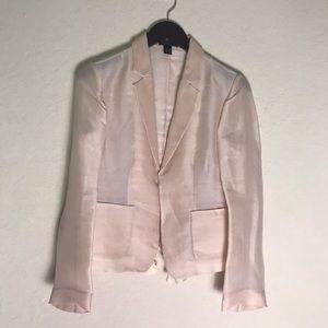 J. CREW collection black label 100% silk blazer 4